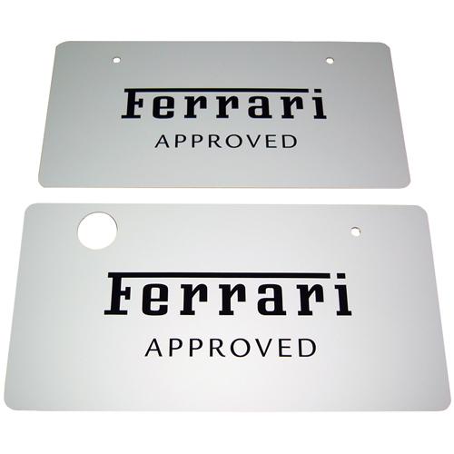フェラーリ ディーラー車用アプルーブド ナンバープレート